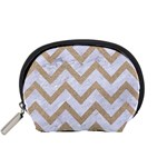 CHEVRON9 WHITE MARBLE & SAND (R) Accessory Pouches (Small)  Front