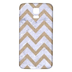 CHEVRON9 WHITE MARBLE & SAND (R) Samsung Galaxy S5 Back Case (White)