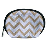 CHEVRON9 WHITE MARBLE & SAND (R) Accessory Pouches (Medium)  Front