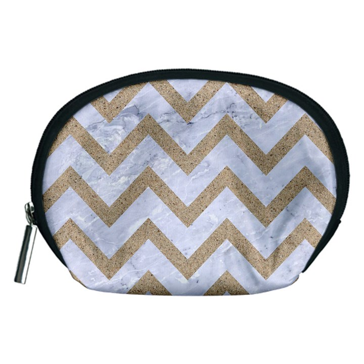 CHEVRON9 WHITE MARBLE & SAND (R) Accessory Pouches (Medium)