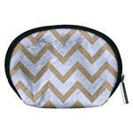 CHEVRON9 WHITE MARBLE & SAND (R) Accessory Pouches (Medium)  Back