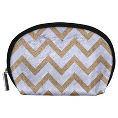 CHEVRON9 WHITE MARBLE & SAND (R) Accessory Pouches (Large)