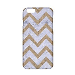 Chevron9 White Marble & Sand (r) Apple Iphone 6/6s Hardshell Case