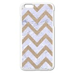 CHEVRON9 WHITE MARBLE & SAND (R) Apple iPhone 6 Plus/6S Plus Enamel White Case Front