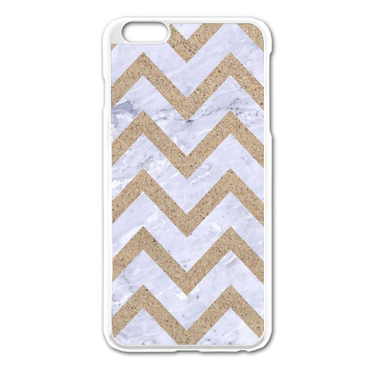 CHEVRON9 WHITE MARBLE & SAND (R) Apple iPhone 6 Plus/6S Plus Enamel White Case