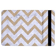 CHEVRON9 WHITE MARBLE & SAND (R) iPad Air 2 Flip