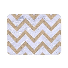 CHEVRON9 WHITE MARBLE & SAND (R) Double Sided Flano Blanket (Mini)
