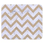 CHEVRON9 WHITE MARBLE & SAND (R) Double Sided Flano Blanket (Small)  50 x40 Blanket Front