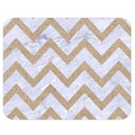 CHEVRON9 WHITE MARBLE & SAND (R) Double Sided Flano Blanket (Medium)  60 x50 Blanket Front