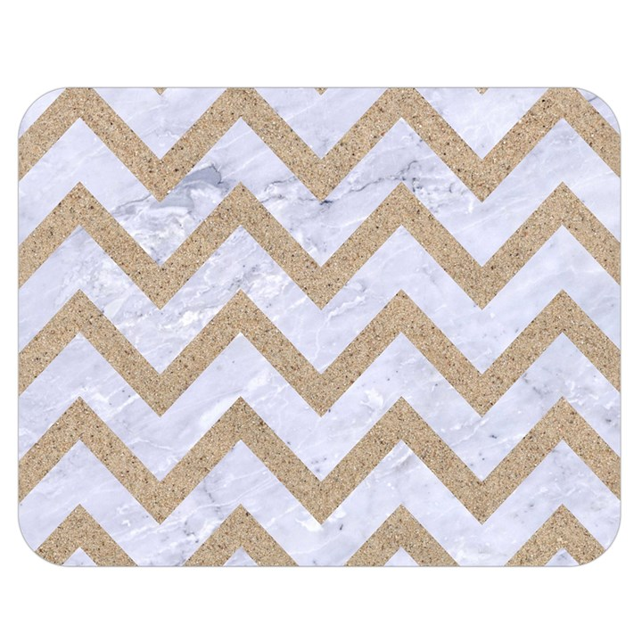CHEVRON9 WHITE MARBLE & SAND (R) Double Sided Flano Blanket (Medium)