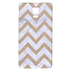 Chevron9 White Marble & Sand (r) Galaxy Note 4 Back Case