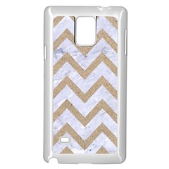 CHEVRON9 WHITE MARBLE & SAND (R) Samsung Galaxy Note 4 Case (White)