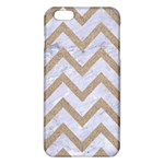 CHEVRON9 WHITE MARBLE & SAND (R) iPhone 6 Plus/6S Plus TPU Case Front