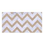 CHEVRON9 WHITE MARBLE & SAND (R) Satin Shawl Front
