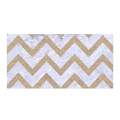 CHEVRON9 WHITE MARBLE & SAND (R) Satin Wrap
