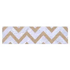 CHEVRON9 WHITE MARBLE & SAND (R) Satin Scarf (Oblong)