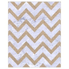 CHEVRON9 WHITE MARBLE & SAND (R) Drawstring Bag (Small)