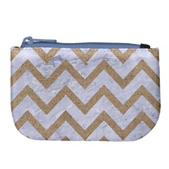 CHEVRON9 WHITE MARBLE & SAND (R) Large Coin Purse