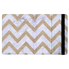 CHEVRON9 WHITE MARBLE & SAND (R) Apple iPad Pro 9.7   Flip Case