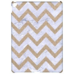 CHEVRON9 WHITE MARBLE & SAND (R) Apple iPad Pro 12.9   Hardshell Case