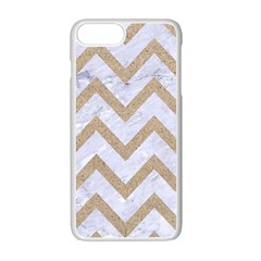 CHEVRON9 WHITE MARBLE & SAND (R) Apple iPhone 7 Plus Seamless Case (White)