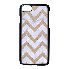 CHEVRON9 WHITE MARBLE & SAND (R) Apple iPhone 7 Seamless Case (Black)