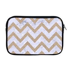 CHEVRON9 WHITE MARBLE & SAND (R) Apple MacBook Pro 17  Zipper Case
