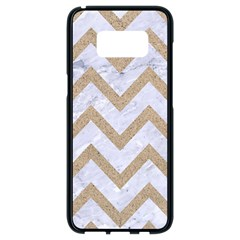 CHEVRON9 WHITE MARBLE & SAND (R) Samsung Galaxy S8 Black Seamless Case