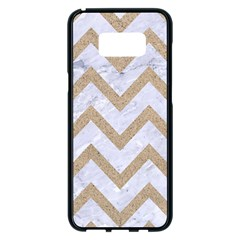 Chevron9 White Marble & Sand (r) Samsung Galaxy S8 Plus Black Seamless Case by trendistuff