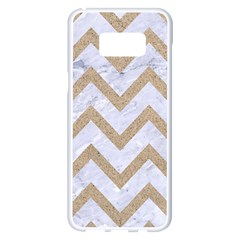 Chevron9 White Marble & Sand (r) Samsung Galaxy S8 Plus White Seamless Case by trendistuff
