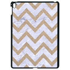 CHEVRON9 WHITE MARBLE & SAND (R) Apple iPad Pro 9.7   Black Seamless Case