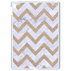 CHEVRON9 WHITE MARBLE & SAND (R) Apple iPad Pro 9.7   White Seamless Case