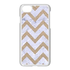 CHEVRON9 WHITE MARBLE & SAND (R) Apple iPhone 8 Seamless Case (White)