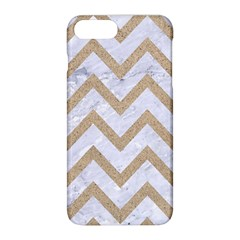 CHEVRON9 WHITE MARBLE & SAND (R) Apple iPhone 8 Plus Hardshell Case