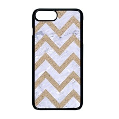CHEVRON9 WHITE MARBLE & SAND (R) Apple iPhone 8 Plus Seamless Case (Black)