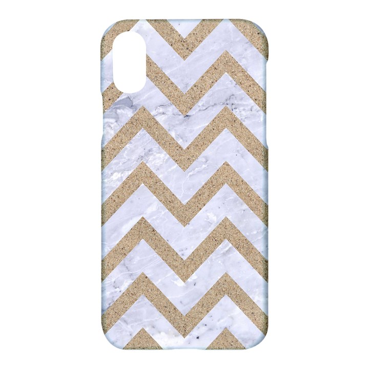 CHEVRON9 WHITE MARBLE & SAND (R) Apple iPhone X Hardshell Case