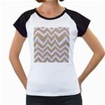 CHEVRON9 WHITE MARBLE & SAND Women s Cap Sleeve T