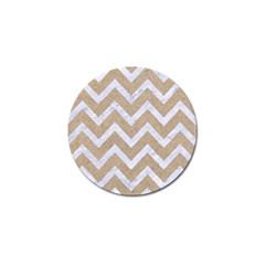 Chevron9 White Marble & Sand Golf Ball Marker (4 Pack)