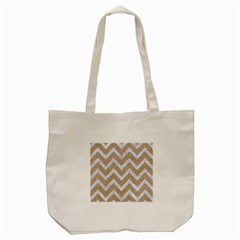 Chevron9 White Marble & Sand Tote Bag (cream) by trendistuff
