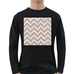 CHEVRON9 WHITE MARBLE & SAND Long Sleeve Dark T-Shirts