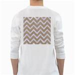 CHEVRON9 WHITE MARBLE & SAND White Long Sleeve T-Shirts Back