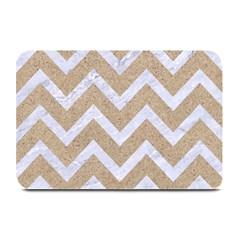 Chevron9 White Marble & Sand Plate Mats