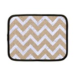 CHEVRON9 WHITE MARBLE & SAND Netbook Case (Small)  Front
