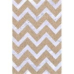 CHEVRON9 WHITE MARBLE & SAND 5.5  x 8.5  Notebooks Front Cover
