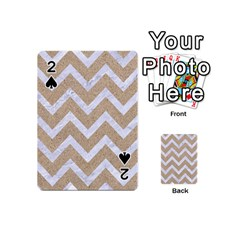 CHEVRON9 WHITE MARBLE & SAND Playing Cards 54 (Mini)