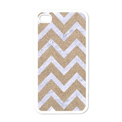 Chevron9 White Marble & Sand Apple Iphone 4 Case (white)