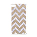 CHEVRON9 WHITE MARBLE & SAND Apple iPhone 4 Case (White) Front