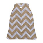CHEVRON9 WHITE MARBLE & SAND Ornament (Bell) Front