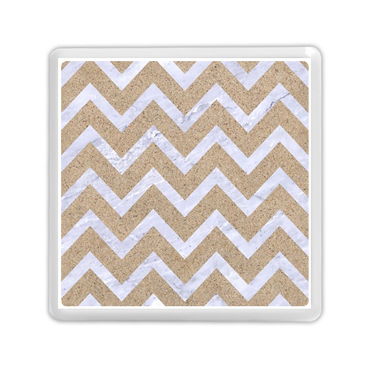 CHEVRON9 WHITE MARBLE & SAND Memory Card Reader (Square)