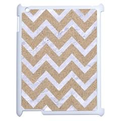 CHEVRON9 WHITE MARBLE & SAND Apple iPad 2 Case (White)